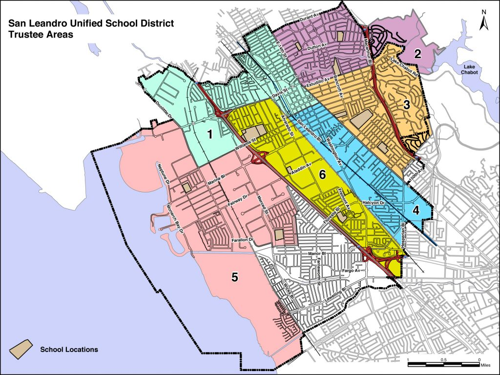 SLUSD BOE Truste Area Map